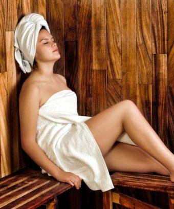 sauna meisje